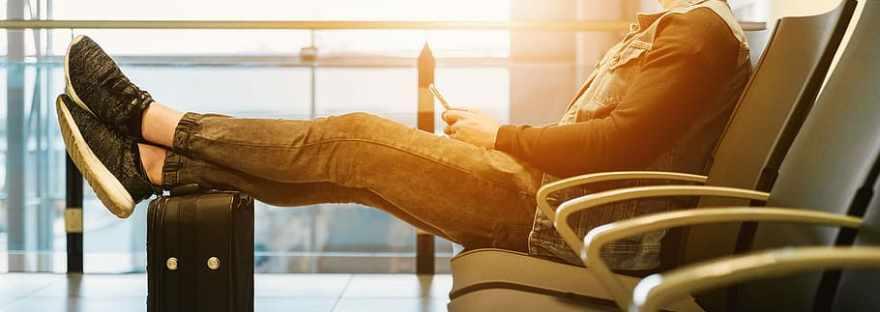 CCTravelHub - traveler at the airport