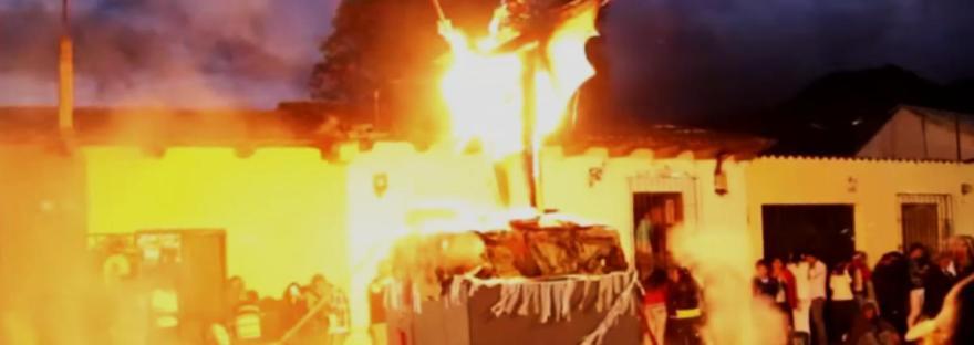 Guatemala Christmas | Burning the Devil - CC Travel Hub