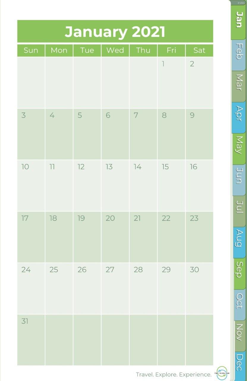 Free 2021 Planner | C&C Travel Hub